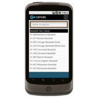 Android: Trading Card Company Order Form Mobile App (Example 2)
