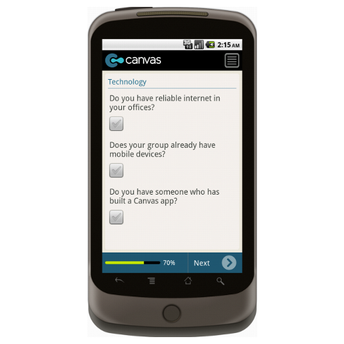 Android: Canvas Ante Up Application Mobile App (Example 3)