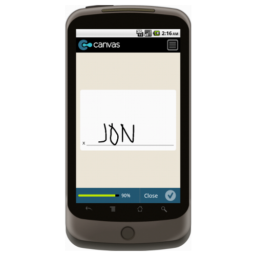 Android: Canvas Ante Up Application Mobile App (Example 4)
