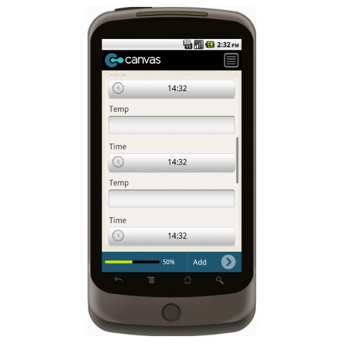 HACCP: Cooling Log Form Mobile App - iPhone, iPad, Android