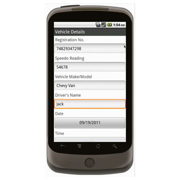 Android (1.5 - pre1.6): Drivers Daily Vehicle Safety Checklist - Safety-Link Mobile App (Example 1)