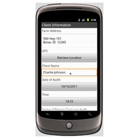 Android (1.5 - pre1.6): Farm Health & Safety Audit - Safety-Link Mobile App (Example 1)