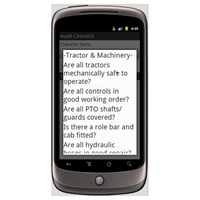 Android (1.5 - pre1.6): Farm Health & Safety Audit - Safety-Link Mobile App (Example 2)