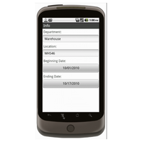 Android (1.5 - pre1.6): Inventory Tracking Sheet With Barcoding Mobile App (Example 1)