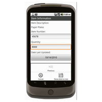Android (1.5 - pre1.6): Inventory Tracking Sheet With Barcoding Mobile App (Example 2)